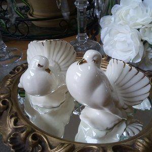 ELEGANT Vintage Gold TRIMMED BIRDS So GLAM